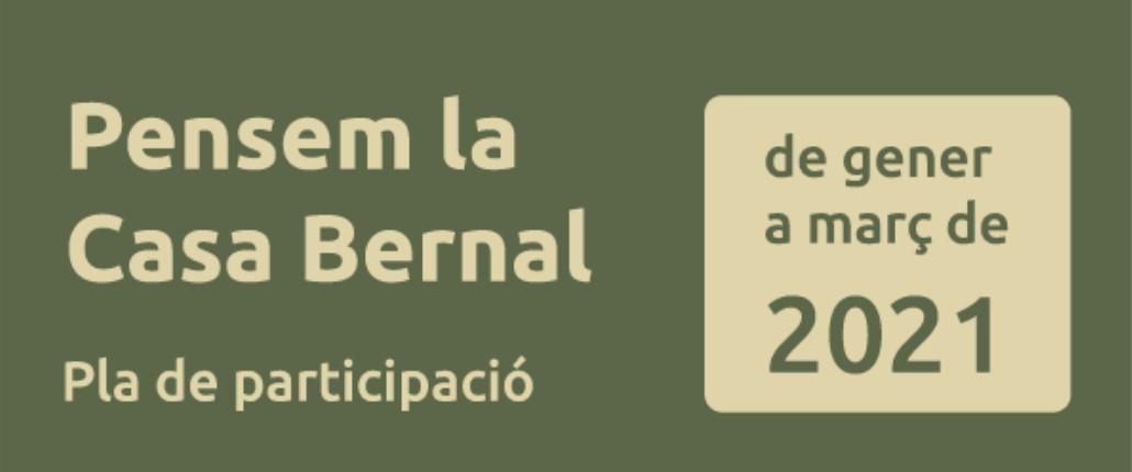 En marxa el procés participatiu per decidir el futur de la Casa Bernal