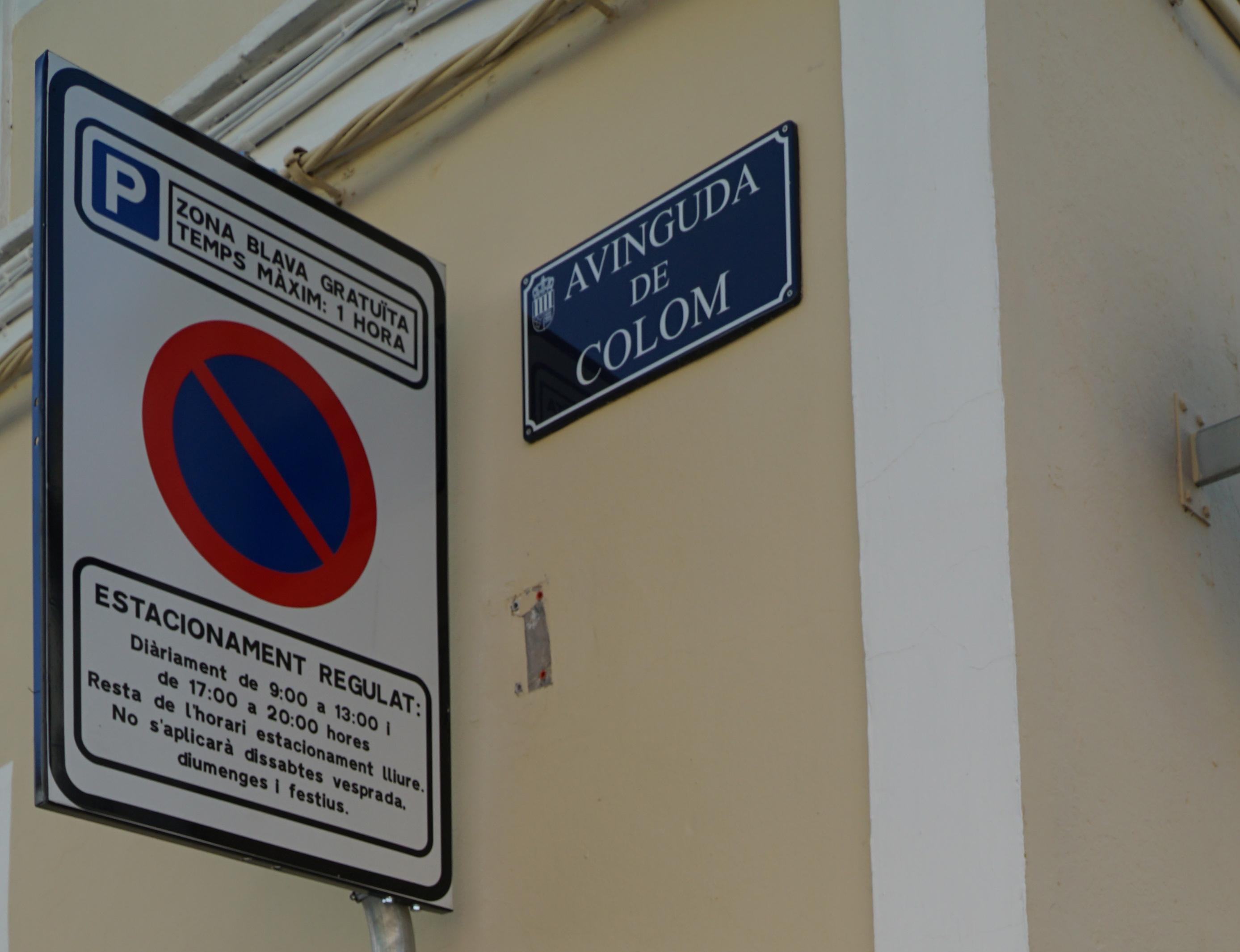 S'implanta l'aparcament d'alta rotació a l'Avinguda de Colom
